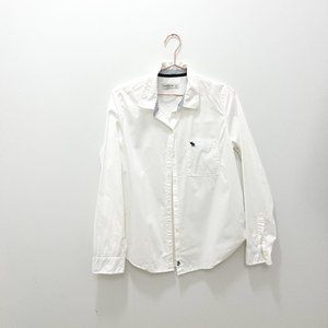 ABERCROMBIE AND FITCH WHITE OXFORD BUTTON DOWN